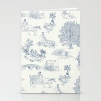 Shire Toile Stationery Cards