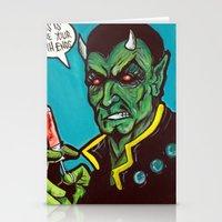 Devil's Double Stationery Cards
