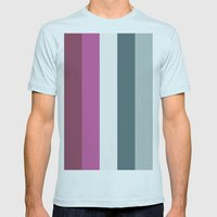 Color Set Mens Fitted Tee Light Blue SMALL