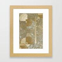 Lichen and Gold Pattern Framed Art Print