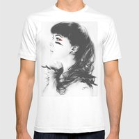 Kacie Marie Mens Fitted Tee White SMALL