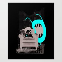 Reading Is Cool Art Print