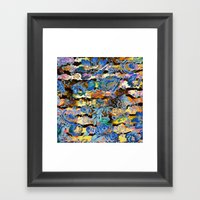 Colorful Flowers Framed Art Print