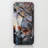 Autumn rain - watercolor iPhone 6 Slim Case