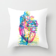 Andreae Vesalii Montage Throw Pillow