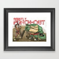 Beastly Punch-Out Framed Art Print