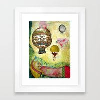 Flying Ballons Framed Art Print
