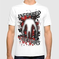 Infected Creatures Mens Fitted Tee White SMALL