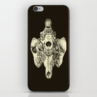 Coyote Skulls - Black and White iPhone & iPod Skin