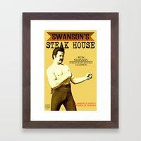Ron Swanson  |  Steak Ho… Framed Art Print