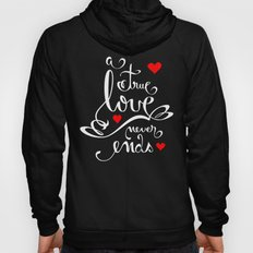Valentine Love Calligraphy and Hearts V2 Hoody