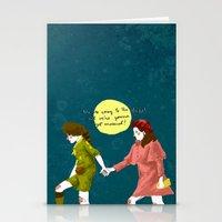 moonrise kingdom Stationery Cards featuring Moonrise Kingdom by ana marta huffstot