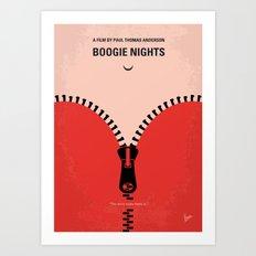 No167 My Boogie Nights minimal movie poster Art Print