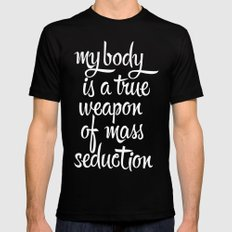 MASS SEDUCTION Mens Fitted Tee Black SMALL
