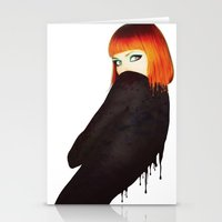 The Girl 5 Stationery Cards