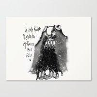 Fashion Dress Illustration Canvas Print