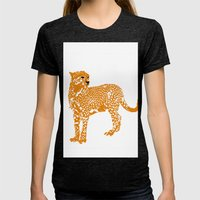 Mighty Cheetah  Womens Fitted Tee Tri-Black SMALL
