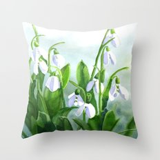 Teardrops in the Snow Throw Pillow