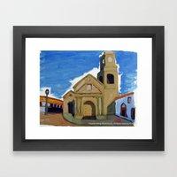 Iglesia San Agustin La Serena Framed Art Print