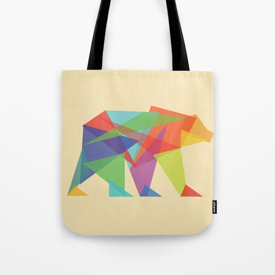 Fractal Geometric bear Tote Bag