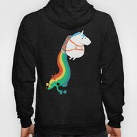 Fat Unicorn on Rainbow Jetpack Hoody