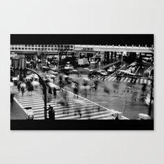 Shibuya Crossing Motion Canvas Print