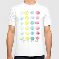Let´s  play Mens Fitted Tee White SMALL
