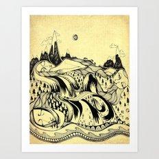 Sleeping Mountains Art Print