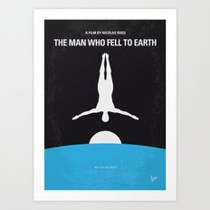 No208 My The Man Who Fell to Earth minimal movie poster Art Print