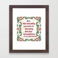 Art, Like Morality - G. … Framed Art Print