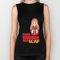 from Russia with loaf Biker Tank