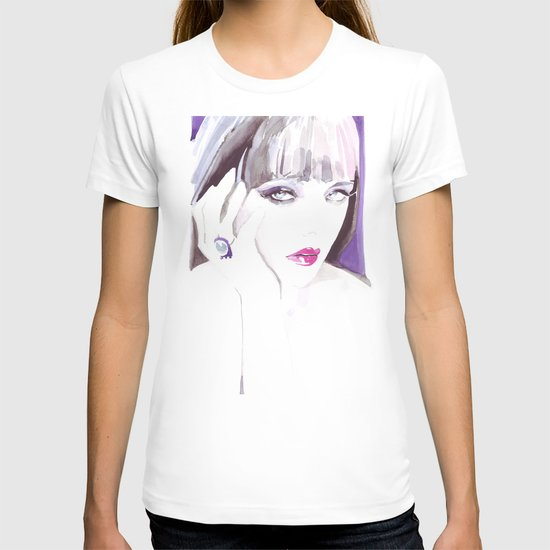 Fashion illustration in watercolors and ink T-shirt
