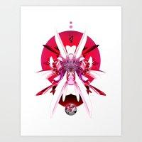 Another Photoshop Robot (Alternate Version) Art Print