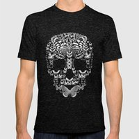 Cranium Butterflies Mens Fitted Tee Tri-Black SMALL