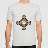 PATTERN 3 Mens Fitted Tee Silver SMALL