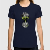 There's ecology in every drop Womens Fitted Tee Navy SMALL