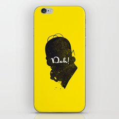 Doh – Homer Simpson Silhouette Quote iPhone & iPod Skin