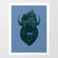 Mohawk Buffalo Art Print