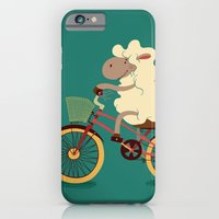 iPhone & iPod Case featuring Lamb on the bike by Tatiana Obukhovich
