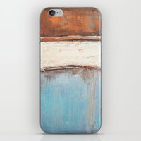 Copper and Blue Abstract iPhone & iPod Skin