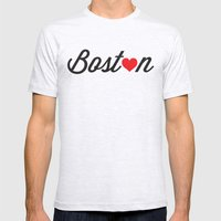 Boston Mens Fitted Tee Ash Grey SMALL