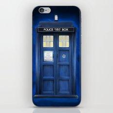 blue box iPhone & iPod Skin