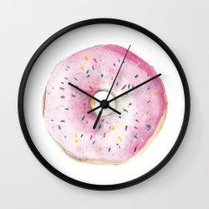 Pink Donut Wall Clock