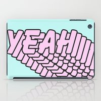 YEAH Typography Pink Blue iPad Case