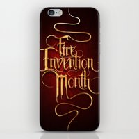 Fire Invention Month iPhone & iPod Skin