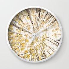 fall looking up Wall Clock