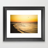 Beach Pier II Framed Art Print
