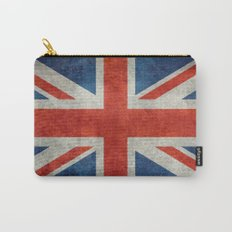 British Flag - Union Jack Ensign with grunge style textures Carry-All Pouch