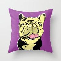 Taco The French Bulldog Throw Pillow