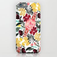 iPhone Cases featuring Wild Garden II by Bouffants and Broken Hearts